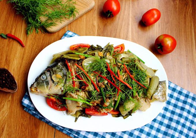 Món cá chép om dưa đơn giản, dễ làm